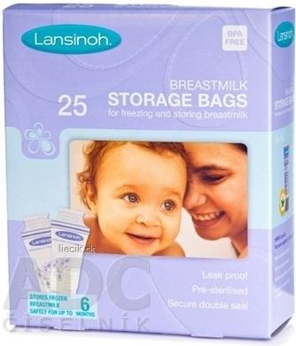 Lansinoh sáčky na skladovanie materského mlieka 25ks