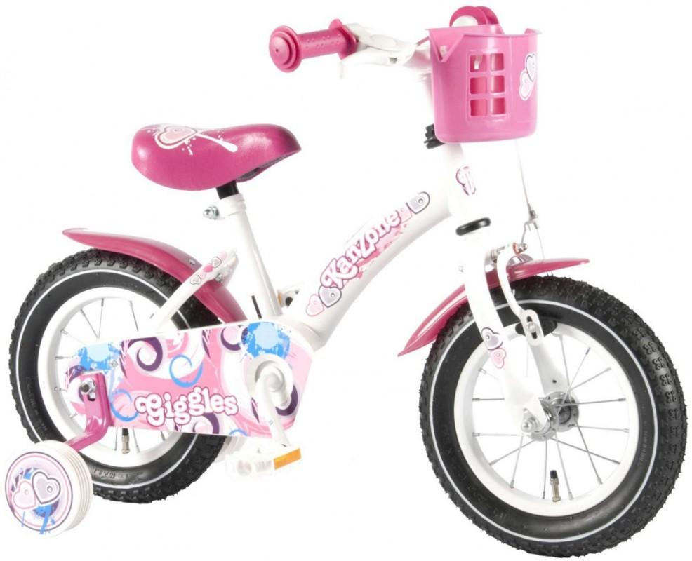VOLARE - Detský bicykel , Kanzone Giggles 12, WHITE/PINK