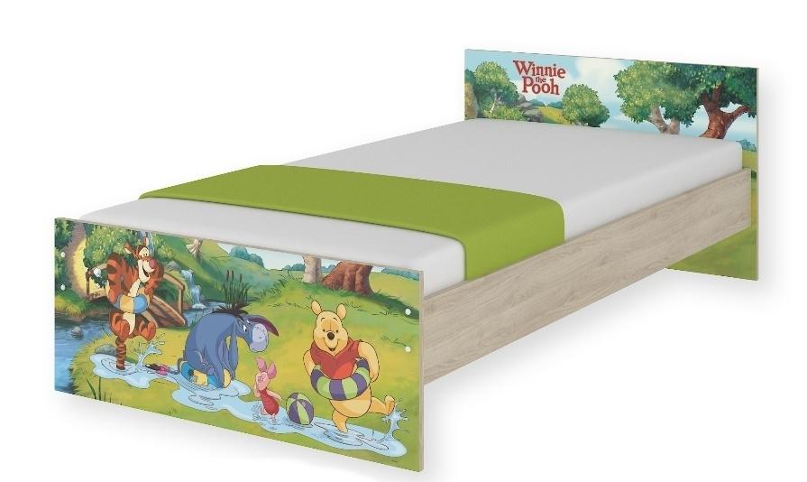 Detská junior posteľ Disney 180x90cm - Medvedík PÚ a čarovný les