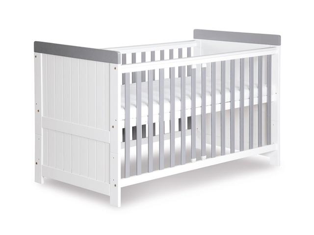 Klups Posteľ CLASSIC biela-šedá 140×70cm