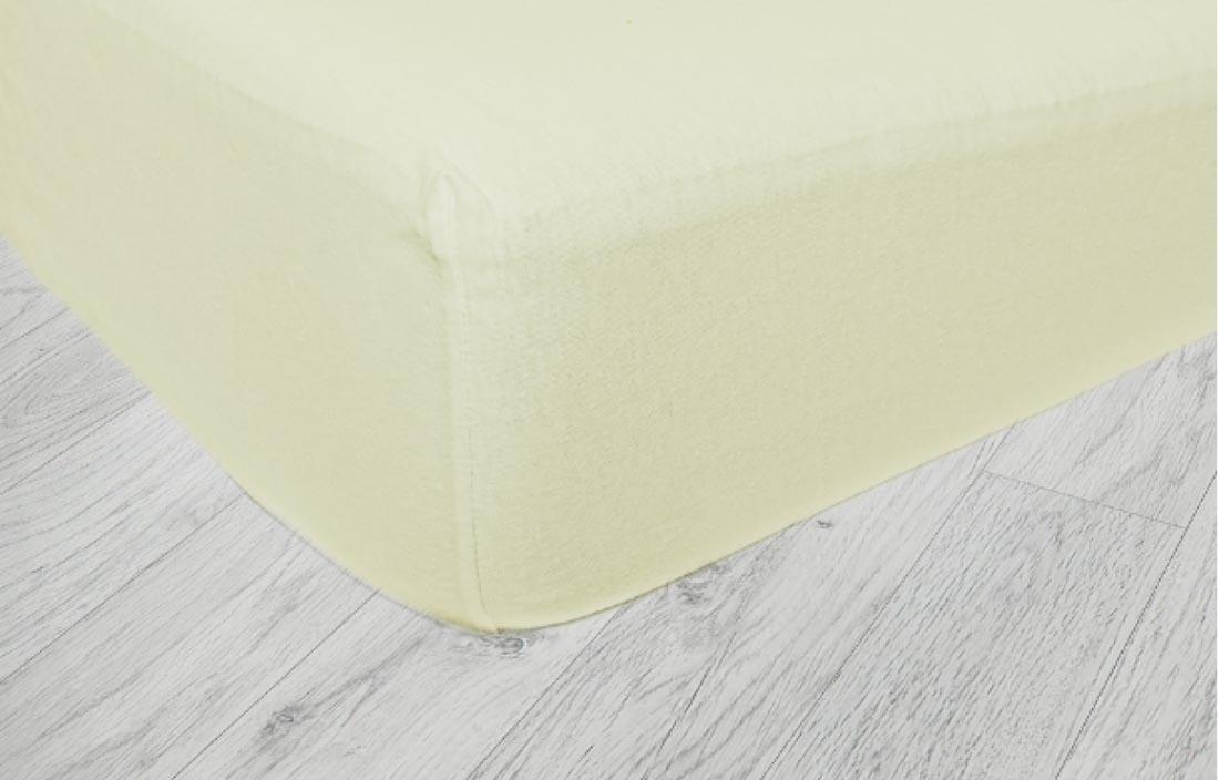 Bavlnená plachta do postieľky - maslová Fillikid