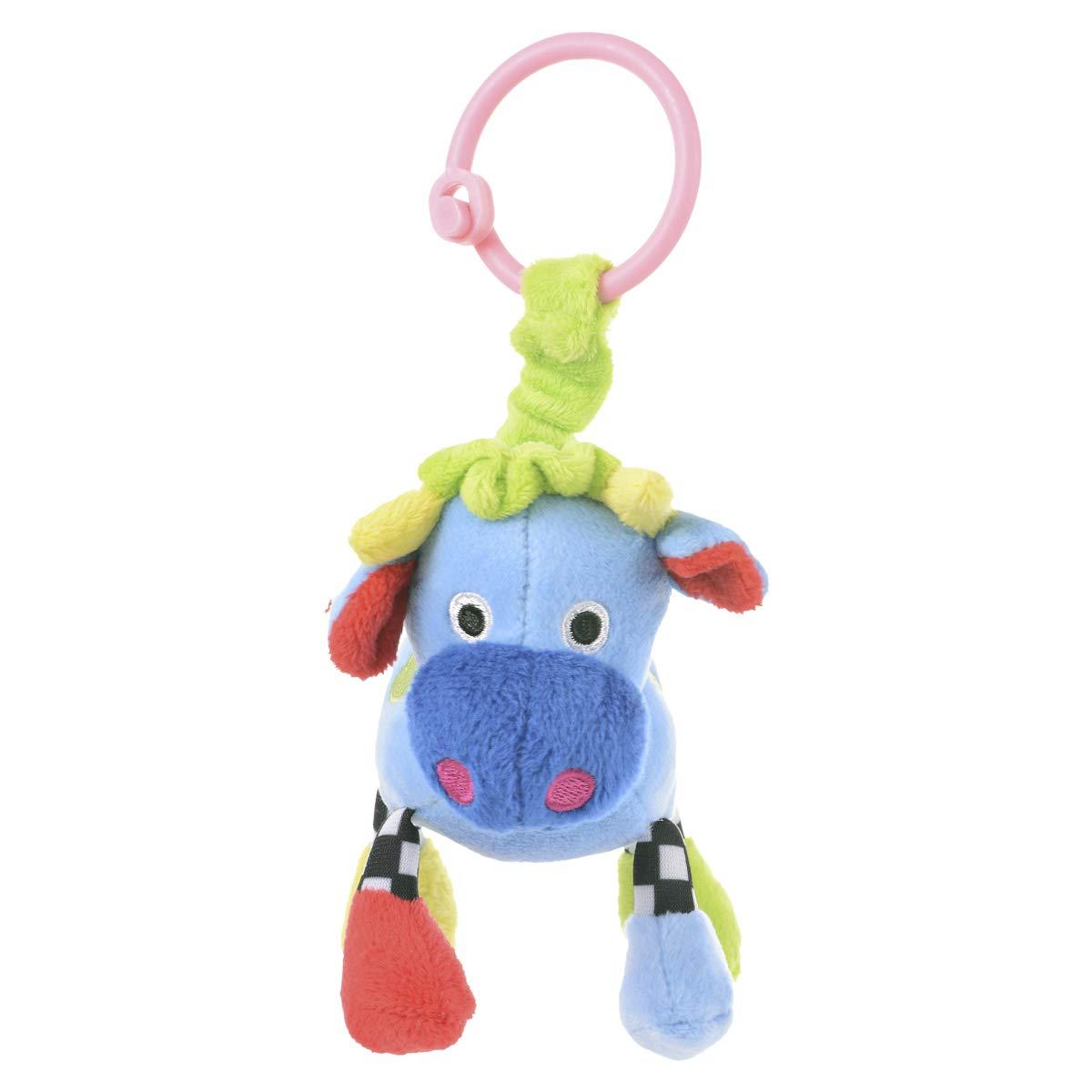 CANPOL BABIES 2/284 Plyšový prívesok - krava modrá