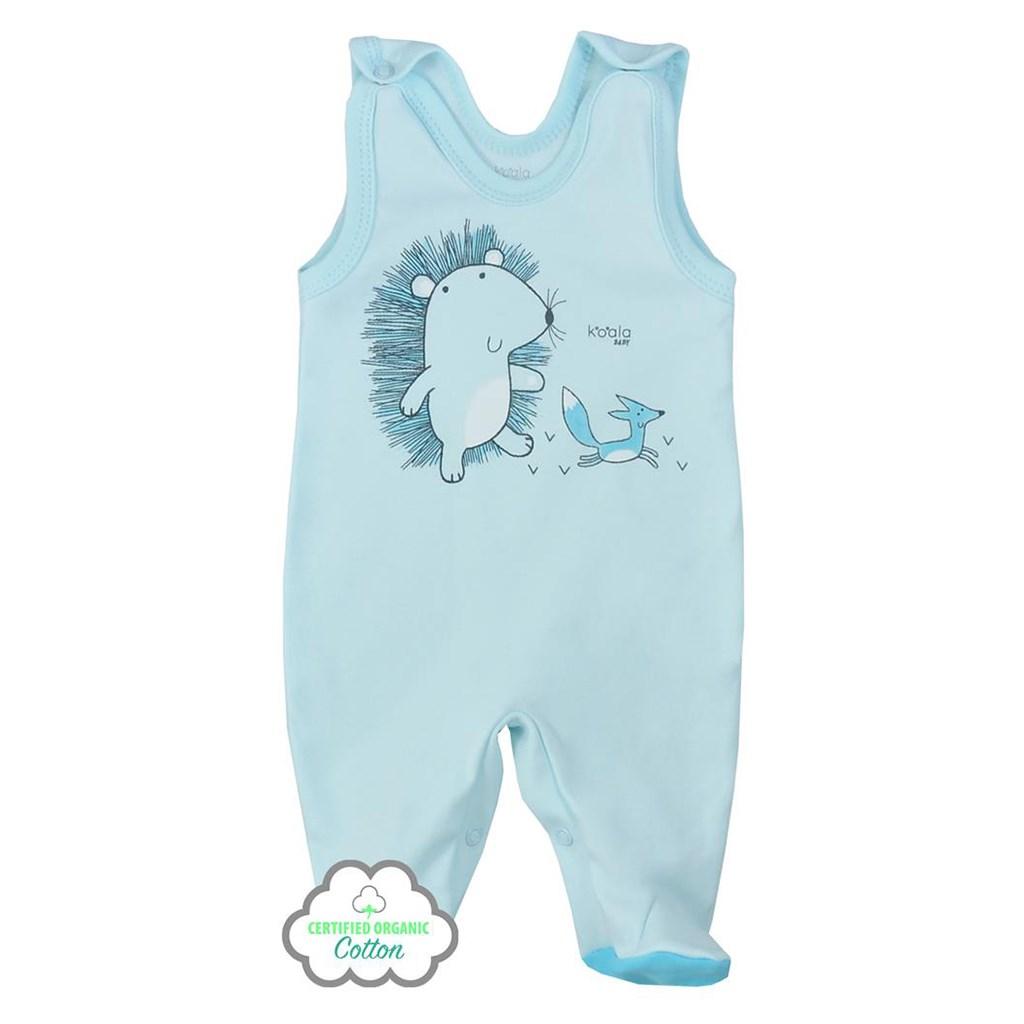 Dojčenské dupačky z organickej bavlny Koala Lesný Priateľ modré 56