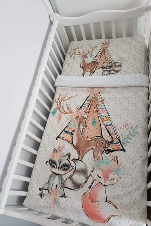 Handmade 2-dielna súprava do postieľky Lesné zvieratká