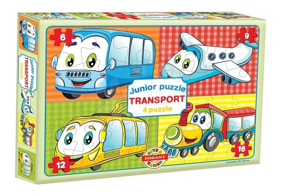 Dohány Junior puzzle skladačka Dopravné prostriedky