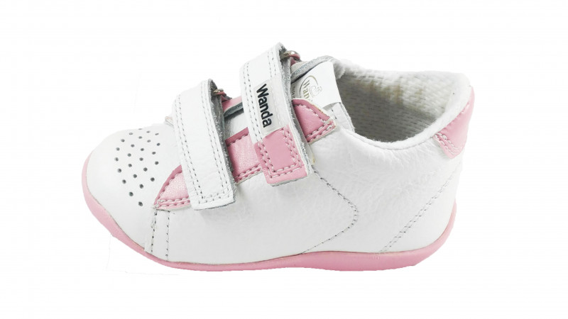 Wanda - Detská obuv na prvé kroky ružová