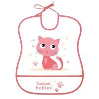 Canpol babies Podbradník Cute animals plastový mäkký ružový