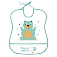 Canpol babies Podbradník Cute animals plastový mäkký zelený