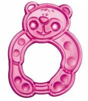 Canpol Babies elastická hryzačka medveď ružový