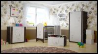 Babyboo Detská postieľka LUX s motivom hnedý macko, 120 x 60 cm