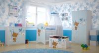 BabyBoo Detská postieľka Medvedik ÚŠKO modrý - 120x60cm