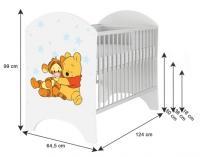 BabyBoo Detská postieľka Disney Medvedík Pu a Prasiatko - 120x60cm