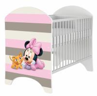 BabyBoo Detská postieľka Disney Baby Minnie - 120x60cm