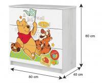 BabyBoo Detská komoda - Medvedík STYDLÍN ružový