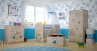 BabyBoo Detská komoda - Mačička modrá