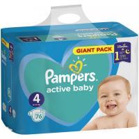 Pampers Active Baby S4 76ks, 9-14 kg