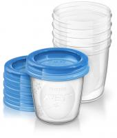 Avent VIA poháriky s viečkami 5ks 180 ml