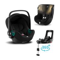 Britax-Römer Set autosedačka Baby-Safe 3 i-Size+Báze Flex Base Isense+Autosedačka Dualfix iSense 2021