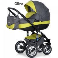Riko kombinovaný kočík Brano  Olive