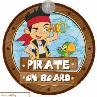 Tabuľka Baby on board Dieťa v aute Pirát