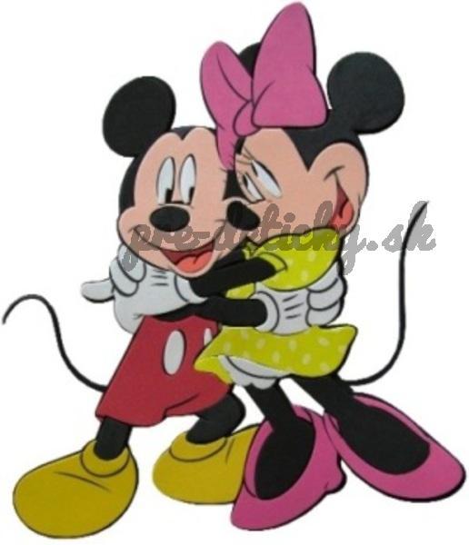 Marko samolepky na stenu Minnie a Mickey 3D