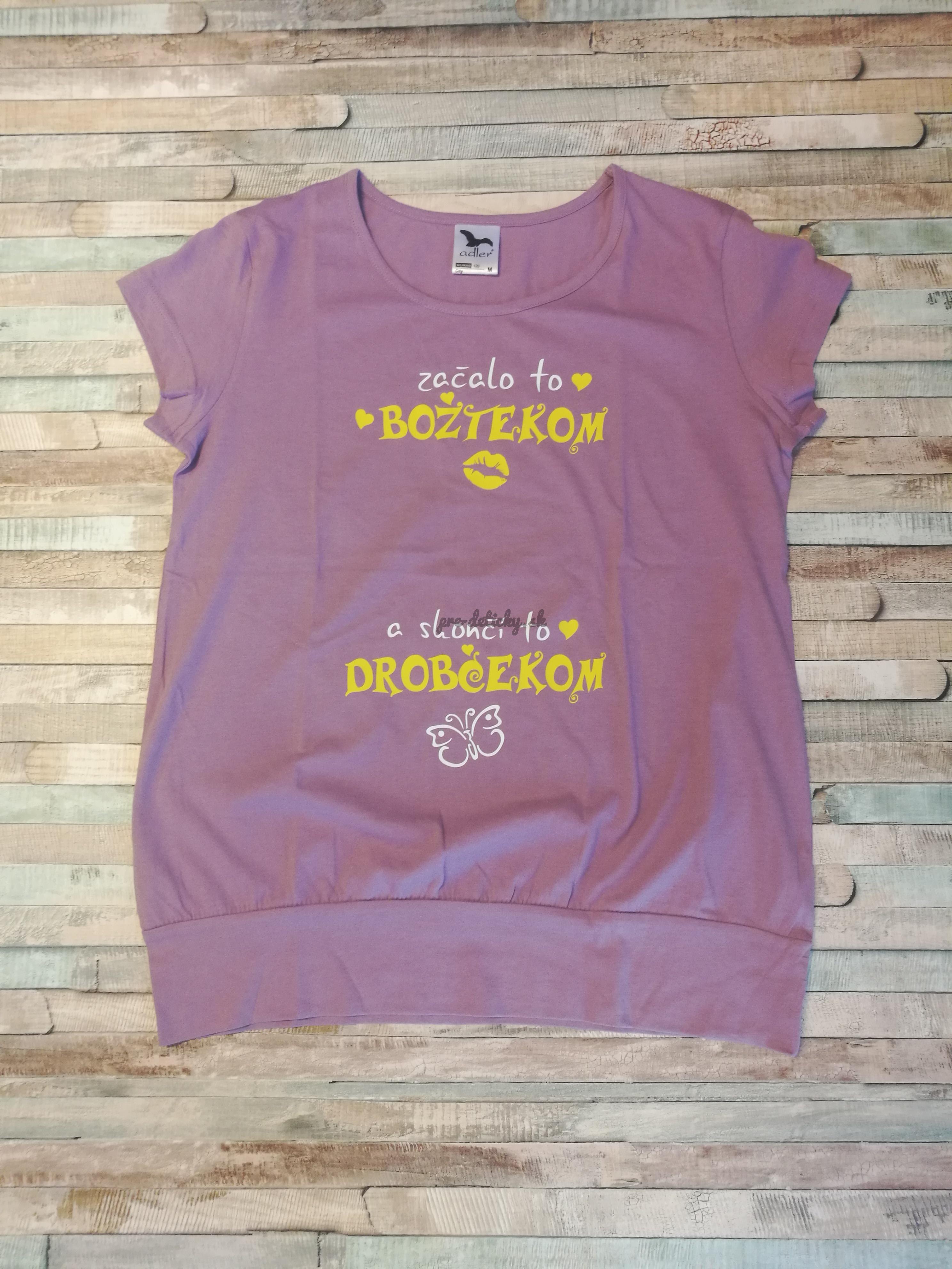 Tričko s potlačou Božtek M - fialová