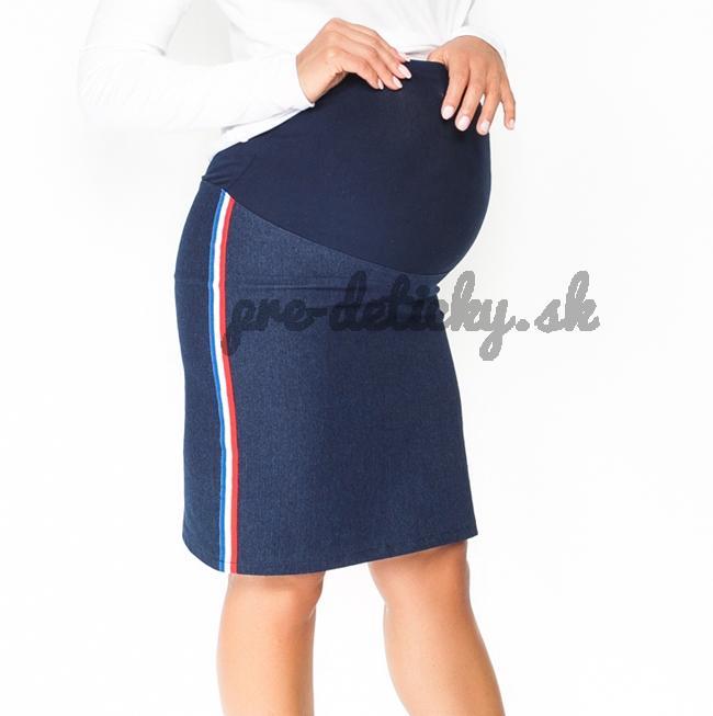 Moromu tehotenská sukňa JEANS s pásom na boku M
