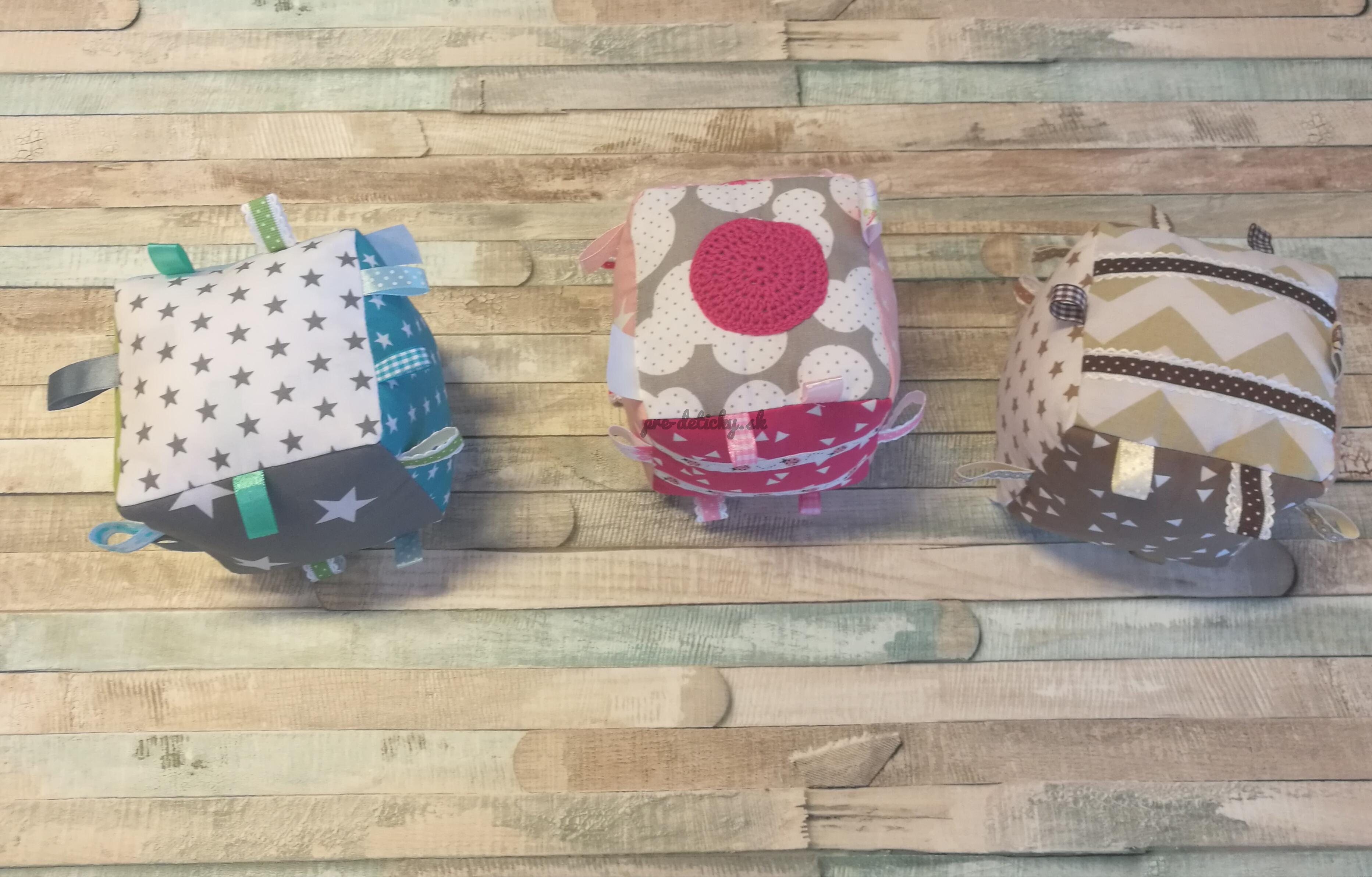 Handmade textilná kocka