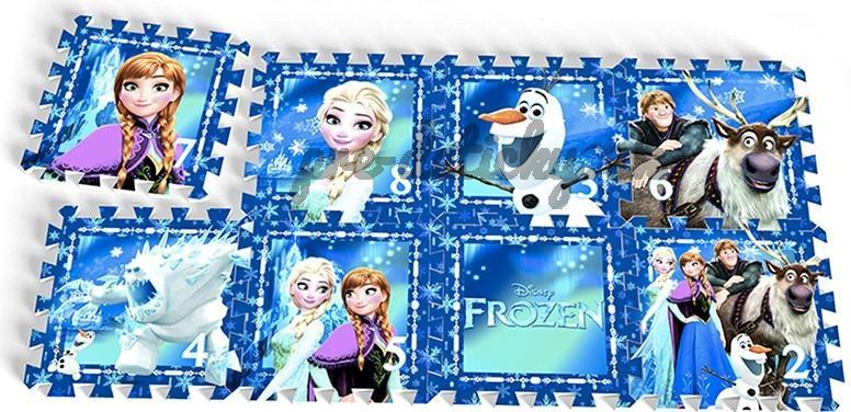 Disney Hracia podložka Frozen penové puzzle 31x31 8 ks