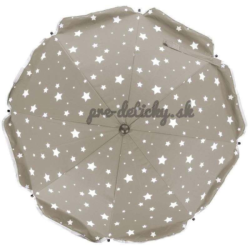 SLNEČNÍK okruhlý Stars - Fillikid bežový + hviezdičky