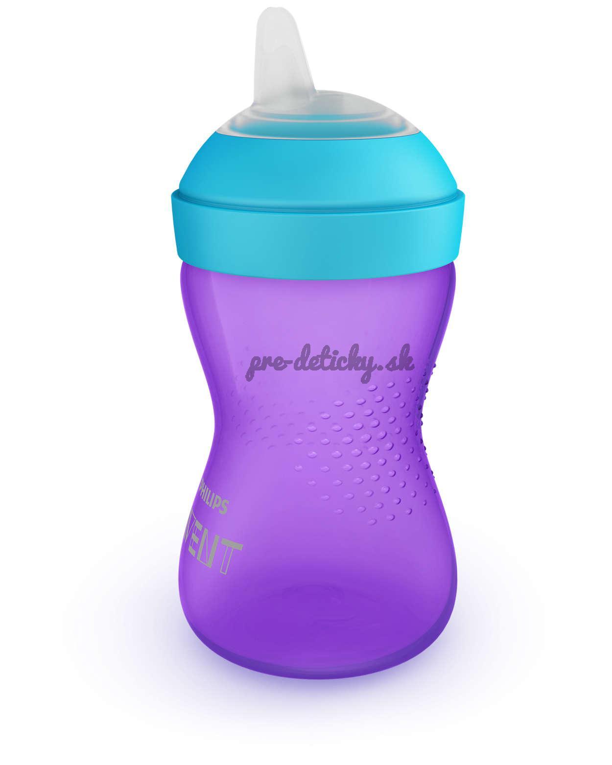 Avent pohár s mäkkým náustkom 300ml fialový 802/02