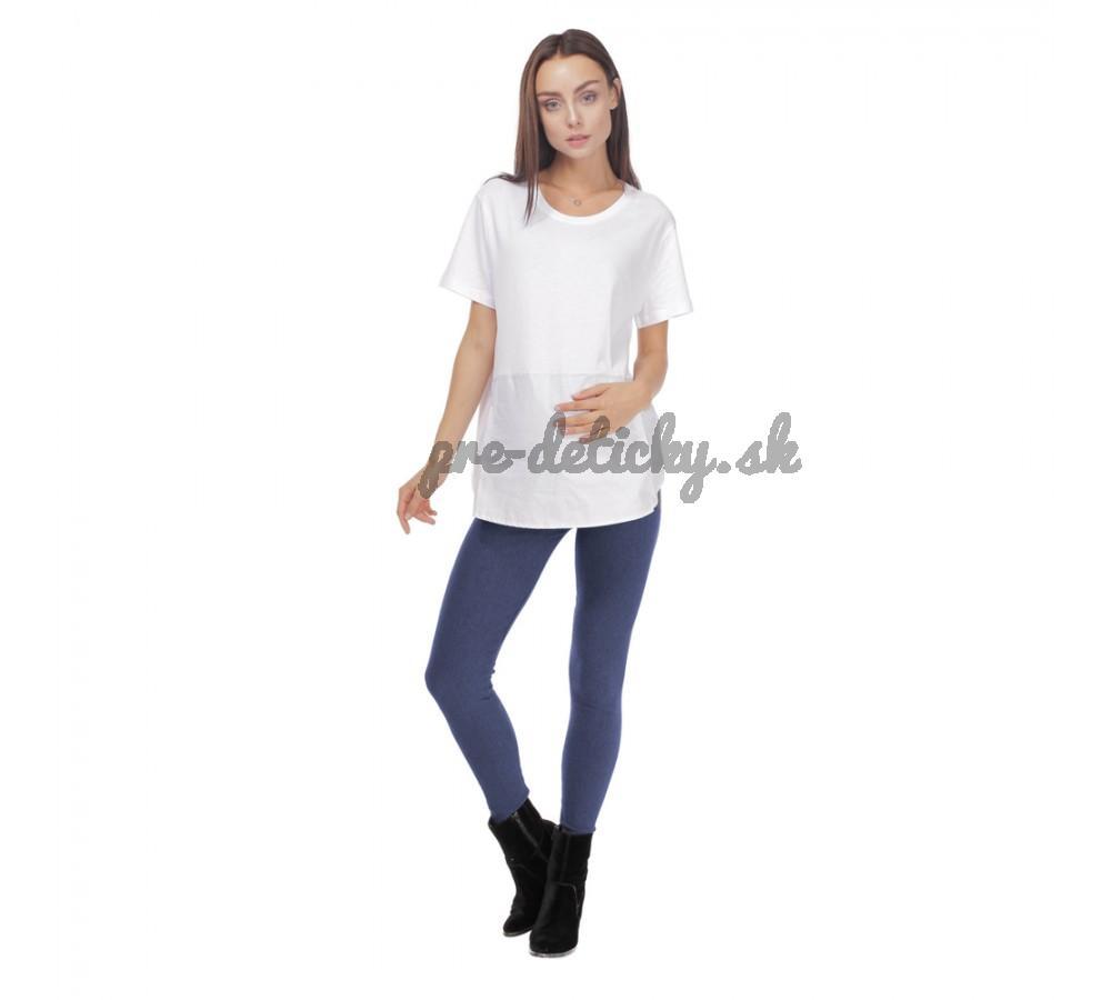 BENSINI Tehotenské zimné legíny ZATEPLENÉ S - jeans