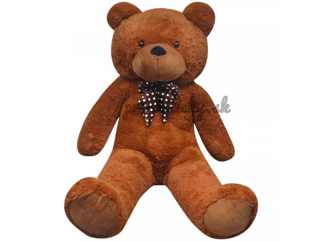 XXL Hračka hnedý mäkký plyšový medveď, 100 cm