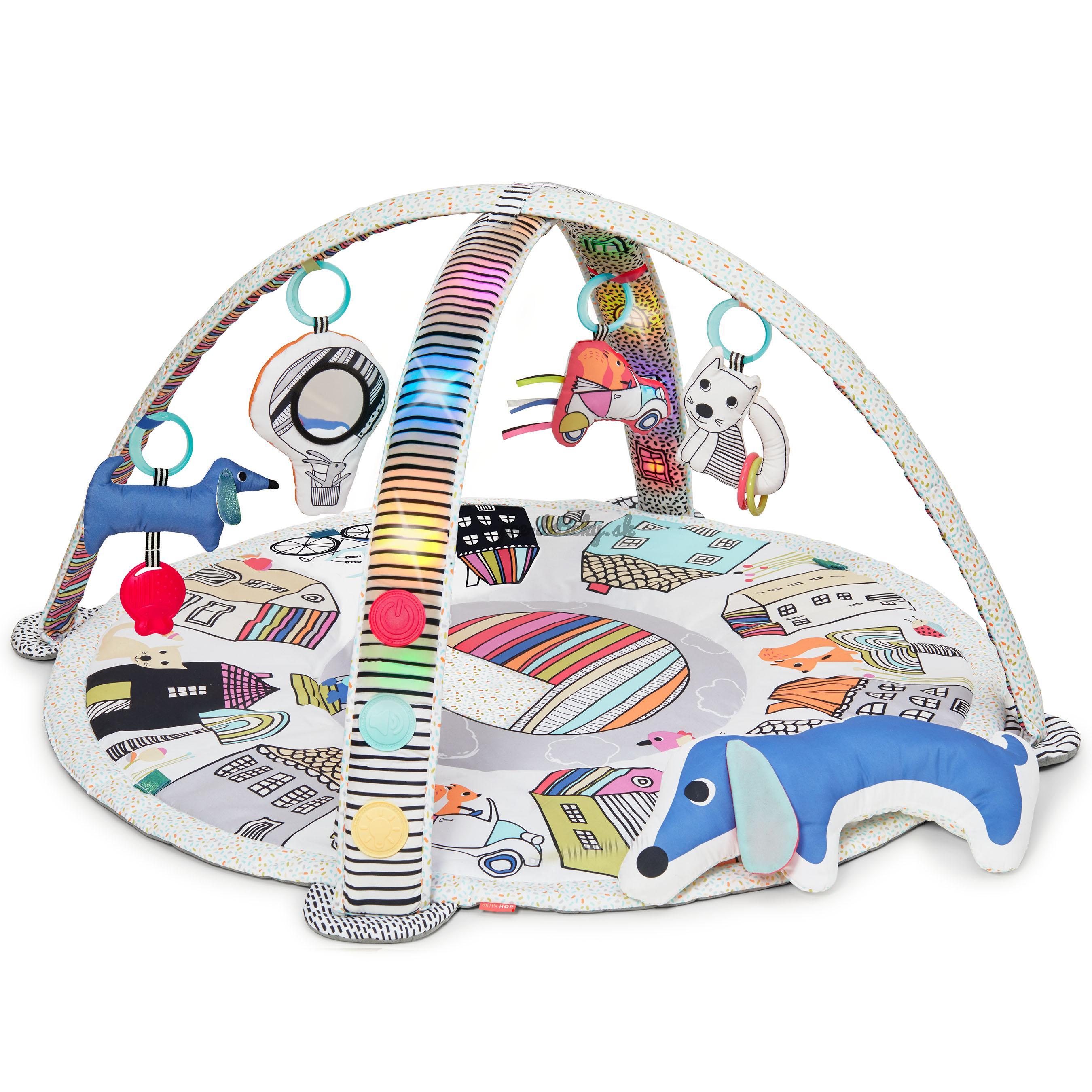 Skip Hop Deka na hranie hudobná, svietiaca, 4 hračky Vibrant Village 0m+