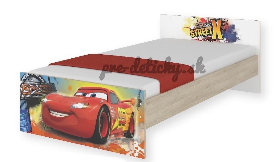 BabyBoo Detská junior posteľ Disney 180x90cm - Cars