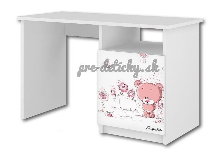 Babyboo Písací stôl Macko ružový