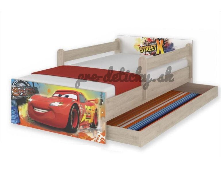 """Babyboo Detská junior posteľ Disney 200x90cm MAX XXL """"CARS"""""""