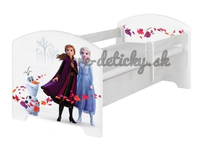 Babyboo Detská posteľ 140 x 70 cm Disney - Frozen II
