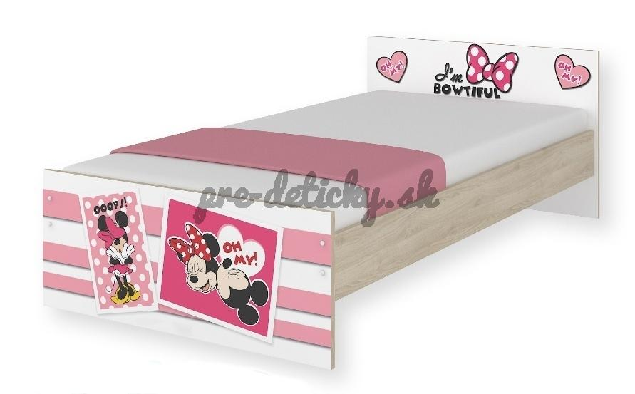 BabyBoo Detská junior posteľ Disney 180x90cm - Minnie UPS
