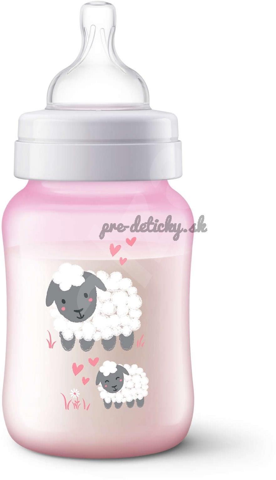 AVENT Fľaša Anti-colic 260 ml – ružová ovečka
