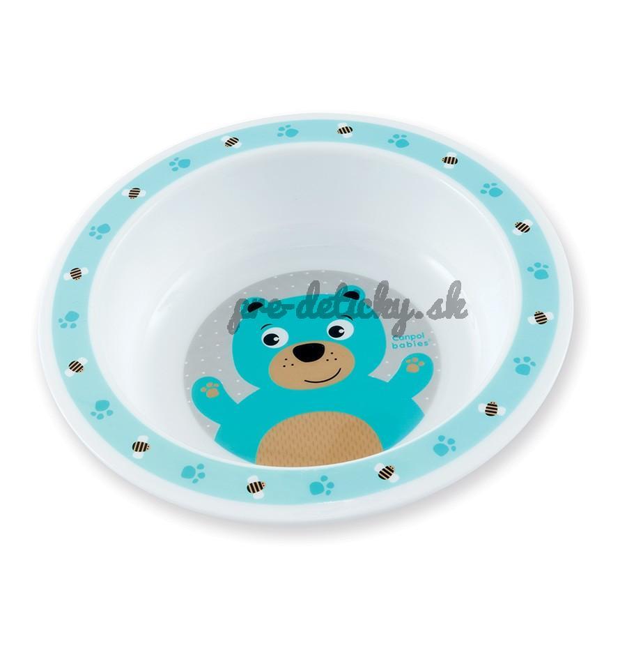 Canpol plastový tanierik Cute Animals macko