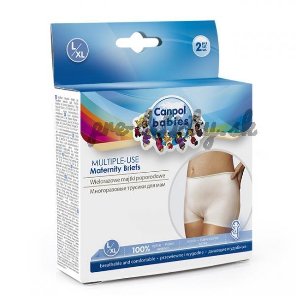 CANPOL BABIES 73/002 Popôrodné nohavičky na viac použití 2 ks L/XL