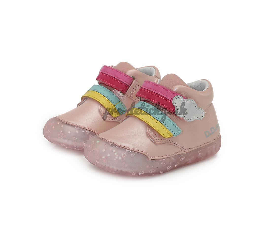 BAREFOOT kožená detská obuv DDSTEP 066-9A pink 20-25