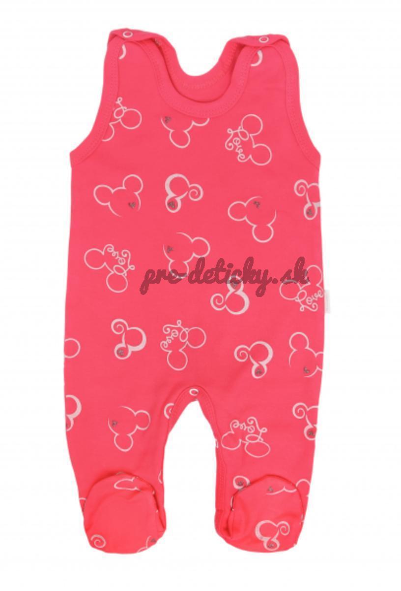 Mamatti Dojčenské dupačky Myška - tm. ružová veľkosť 68