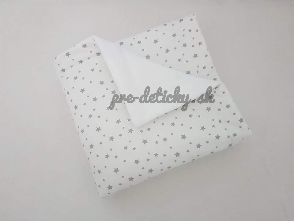 Handmade deka zimná biela - hviezdičky