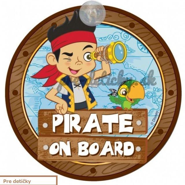 """Tabuľka """"Baby on board"""" Dieťa v aute Pirát"""